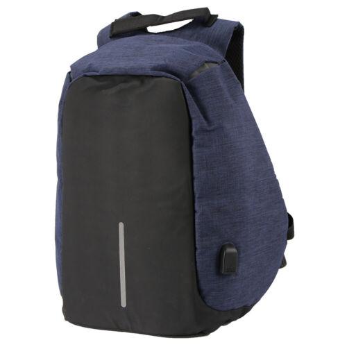 Anti-vol Sac à dos Backpack USB Charge Bandoulière Laptop École Voyage étanche