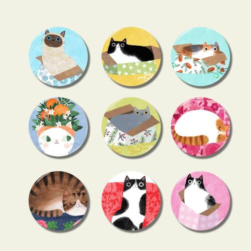 1pc Fridge Magnet Cute 3D Glass Cartoon Animals Cat Cute Fun Kids Gift