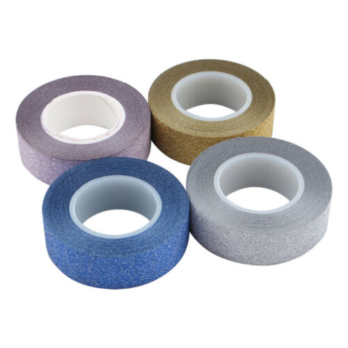 14 mm Colle Glitter Washi Tape-papier collant ruban adhésif pour Scrapbook Fabrication Carte
