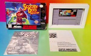 Scooby-Doo-Mystery-SNES-Super-Nintendo-Game-COMPLETE-CIB-Rare-Box-Authentic