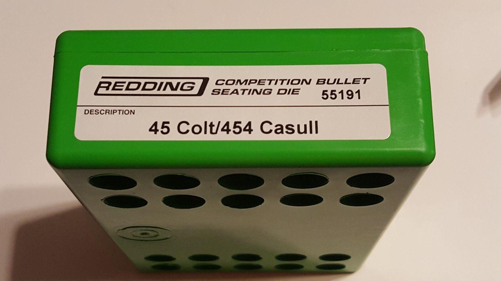 55191 rojoDING COMPETITION asientos Die - 45 COLT 454 Casull-Nuevo-Envío Gratis