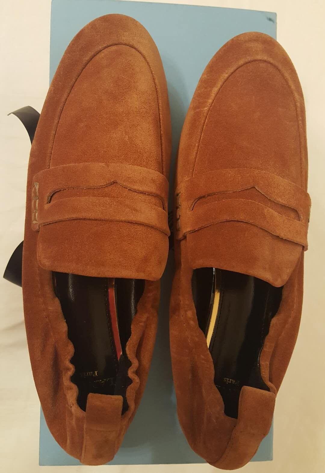 Brand New LANVIN classic soft Damens's penny loafers Größe Größe Größe 36.5 US Größe 6 6cff92