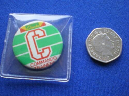 Clarks Commando Trainers   pin badge  1970s
