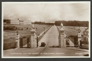Postcard-Belfast-County-Antrim-Northern-Ireland-the-Houses-of-Parliament-RP