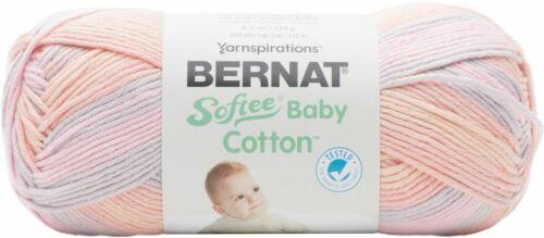 166052-52014 3 Pack-Bernat Softee Baby Cotton Yarn-Tea Party Variegated