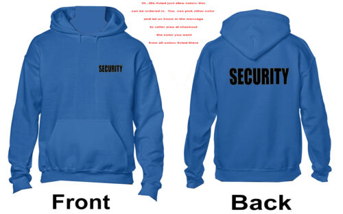 - Event Protection Security Hoodie Black Wordng 3067