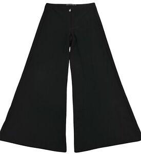 Marithe Francois Girbaud Mujer Pierna Ancha Palazzo Pantalones Pantalones Tamano Us 4 Negro Ebay