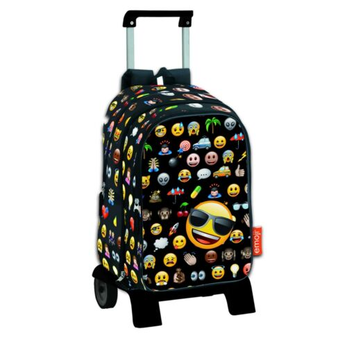 EMOJI Mochila de bolsillos intercambiables-carro extraíble//Big backpack//trolley