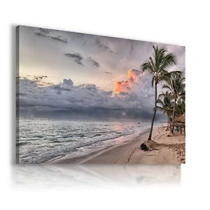 BEACH-PARADISE-HOLIDAY-View-Canvas-Wall-Art-Picture-Large-SIZES-L212-X