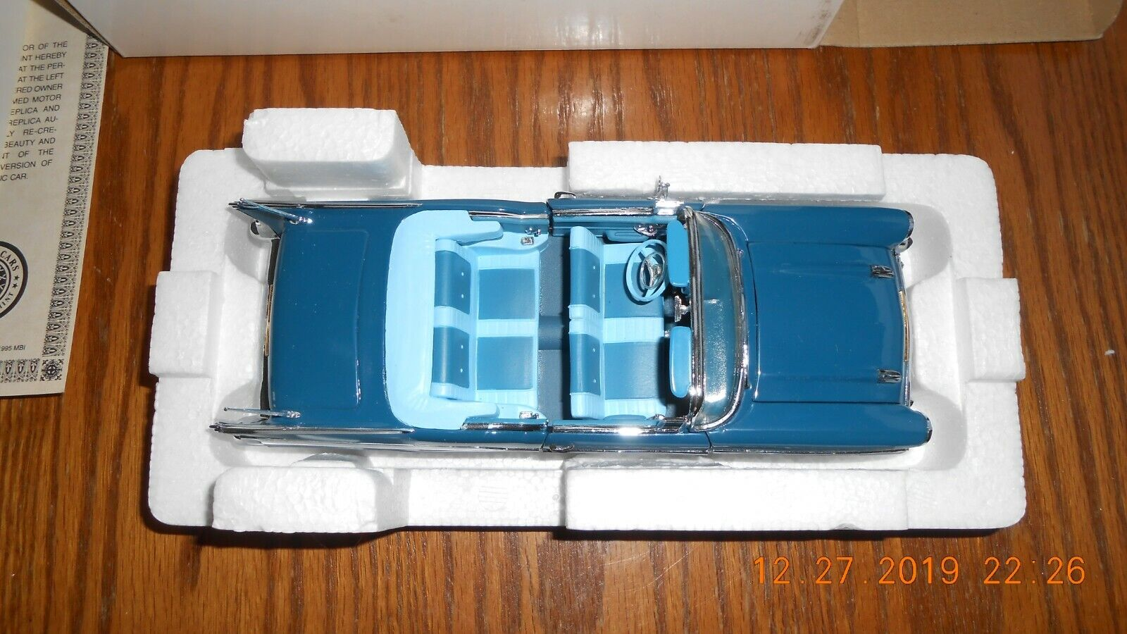 DANBURY MINT 1957 CHEVROLET BEL AIR CONGrünIBLE 1 24 SCALE Mint in Box