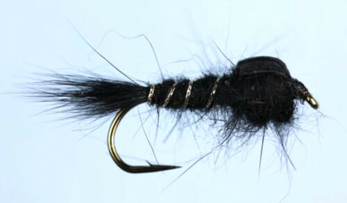 40 Hares Ear Assorted Trout Nymphs Choice Of sizes Trout Flies /& SupaSlim Box