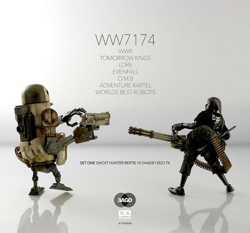 ThreeA 3A SET ONE GHOST GHOST GHOST HUNTER BERTIE VS SHADEY EDO TK Collectible Action Figure d89d99