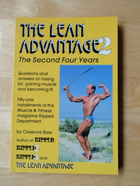 THE LEAN ADVANTAGE 2 bodybuilding muscle workout book/CLARENCE BASS 1989