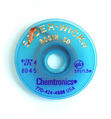 20 Roll 80-4-5 W= 2.8mm Chemtronics Desoldering Wick Soder-Wick Chemtronics USA