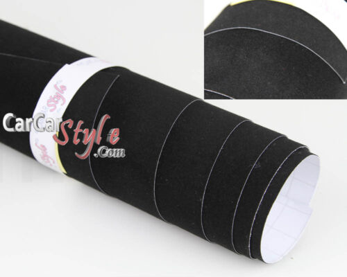 Schwarz Samt Tuch Stoff Fahrzeug Verpackung Vinyl Wrap Film