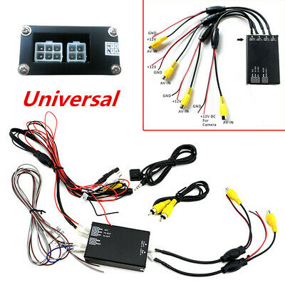 Universal Car 4-Way Video Switch Parking Camera Image Split-Screen Control Box