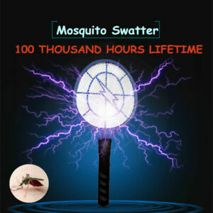 DC-Power-High-voltage-Electric-Fly-Swatter-Mosquito-Racket-Bug-Zapper-Killer