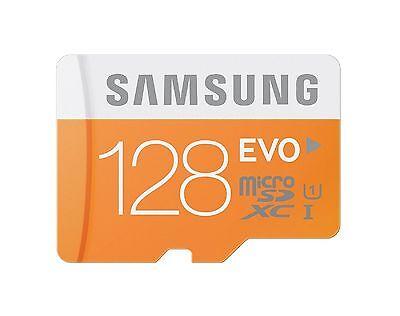 SAMSUNG MICROSDXC EVO 128GB 48MB 128G 128 G GB MICROSD UHS-1 U1 C10 MEMORY CARD