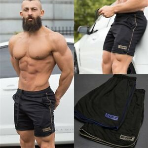 Men-039-s-Jogging-Running-Sports-Shorts-Breathable-Gym-Training-Fitness-Pants-UK