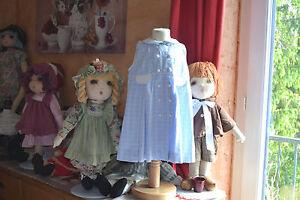 robe-dior-3-ans-haut-double-bleu-carreaux-col-clodine-boutons-recouverts
