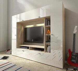 Tv Wall Unit Vigo Modern Set Media Centre High Gloss