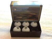 Box Of 5 Pinnacle Power Core Balls - - Half Moon Bay Golf Course Links Logo