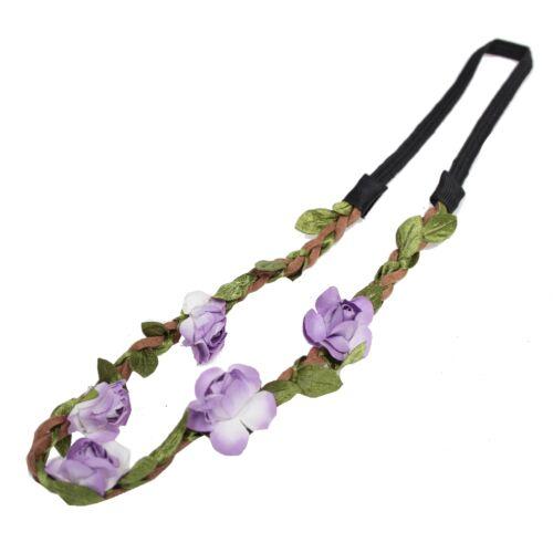 Trachten Rosen Haarband Geflochten Boheme Blumen Hippie Stirnband Kopfschmuck