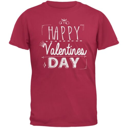 Happy Valentines Day Sign Red Adult T-Shirt