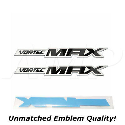 Black Pairs Chevy Silverado Vortec MAX High Output Emblems Badges Decals