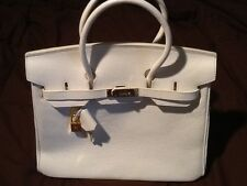White Leather Hermes Purse