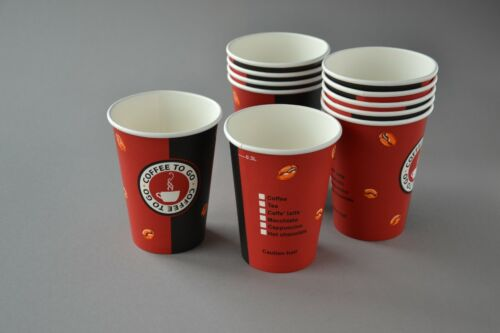 2000 Coffee to go Becher 0,3l Hartpapier Kaffeebecher 12 OZ Pappbecher