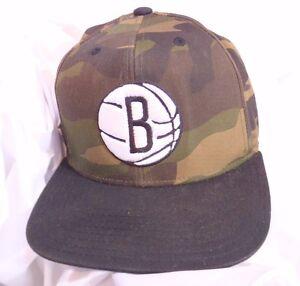 307fe97d Brooklyn Nets NBA Adidas Baseball Cap Hat Camo Camouflage Basketball ...