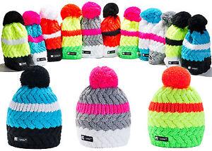 016f89ff2ff Men Women Beanie Hat Winter Worm Hats Pom Pom Knitted Baggy Ski ...