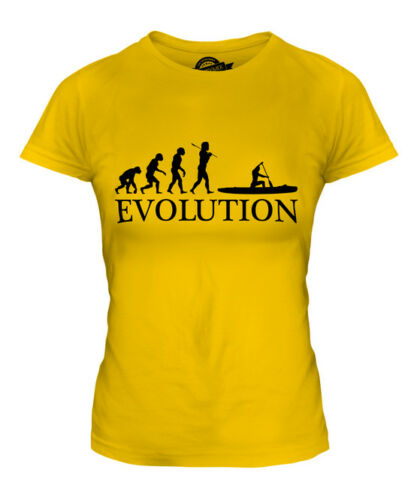 CANOE EVOLUTION OF MAN LADIES T-SHIRT TEE TOP GIFT CLOTHING CANOEING