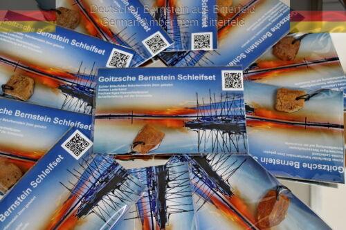Bitterfelder Naturbernstein Schleifset Bernsteinanhänger selber schleifen!