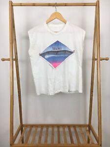 RARE-VTG-1984-Wang-Chung-Points-On-The-Curve-Tour-Thin-Sleeveless-T-Shirt-Size-M