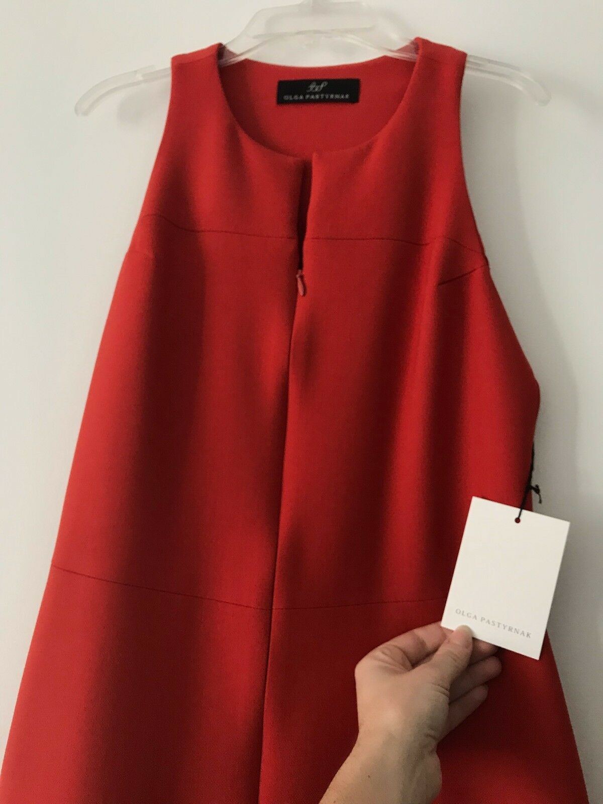 Olga Pastyrnak designer luxury modern stretch red dress dress dress size 0 - new with tags  61dbbd