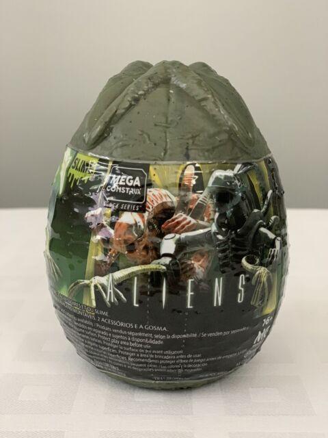 Mega Construx Aliens Egg CONFIRMED GLOW IN THE DARK /& GREEN XENOMORPH FIGURES