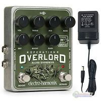 Electro-harmonix Operation Overlord Allied Overdrive Pedal With Power Supply on sale