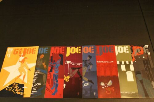 GI Joe 1-8 The Fall of GI Joe Complete Comic Lot Run Set IDW Collection