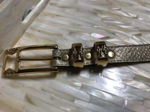 BB Simon Belt with Gold Metal Accessories Sz M EUC
