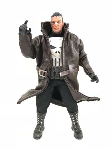 No Figure SU-LTC-TN Dark Brown Wired Trench Coat for Mezco One:12 Punisher