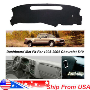 Non Slip Black Dash Mat Cover For 1998 2004 Chevrolet S10 Dashboard Carpet Pad Ebay