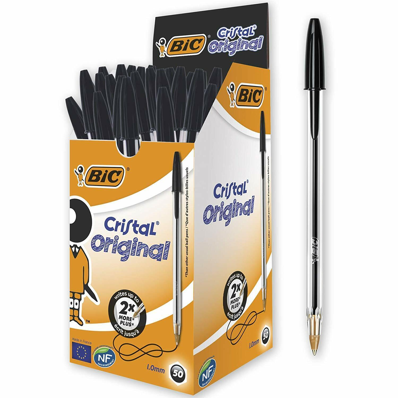 8 Pack Ball Pens Ball Point Pen MEDIUM Biros BLACK BLUE RED Ballpoint CHEAP!