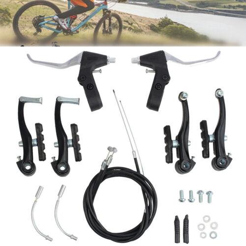 Bicycle Road Bike Front /& Rear V-Brake Set With Handlebar Lever Brake Cable Kit