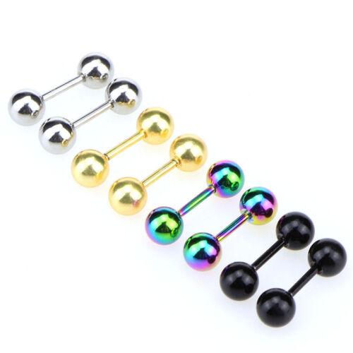 Stainless Steel Barbell Ear Cartilage Tragus Helix Stud Bar Earrings Pierci.rd
