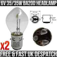 6V 35/35W BA20D BOSCH TYPE FIT DOUBLE CONTACT HEADLIGHT / HEADLAMP BULB P393 x2