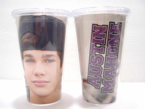 Austin Mahone Travel Tumbler Tumblr AM Mahomie Cup with Straw New