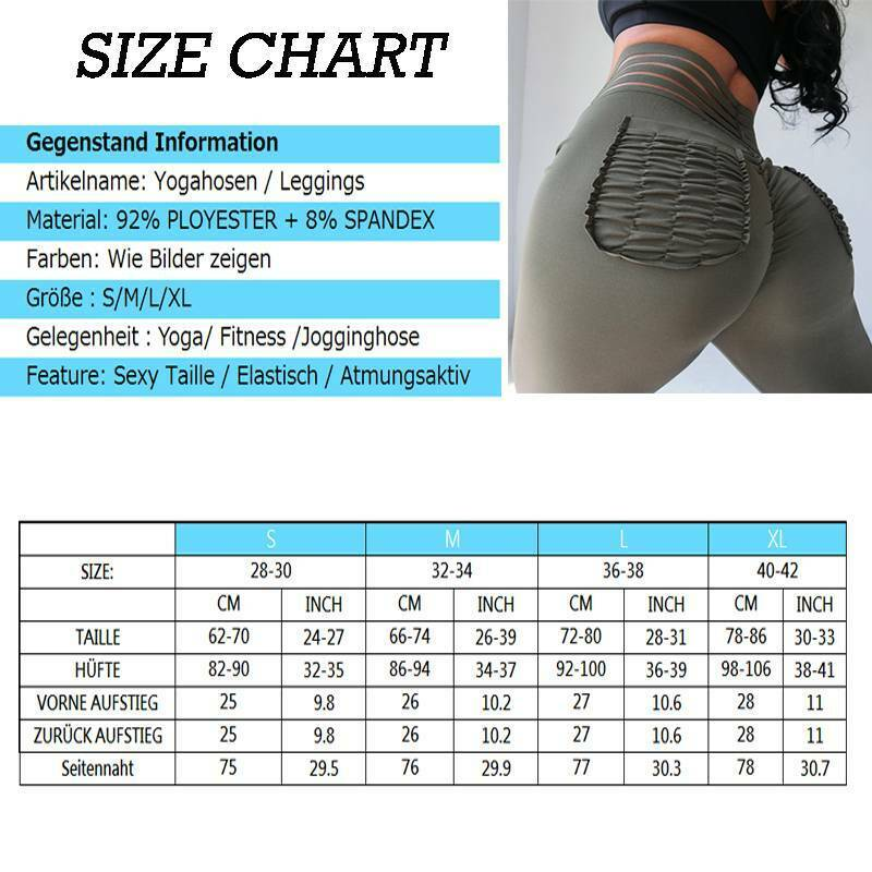 Damen Yoga Hose Jogginghose Push Up Sports Fitness Gym Leggins Leggings Hose AIP