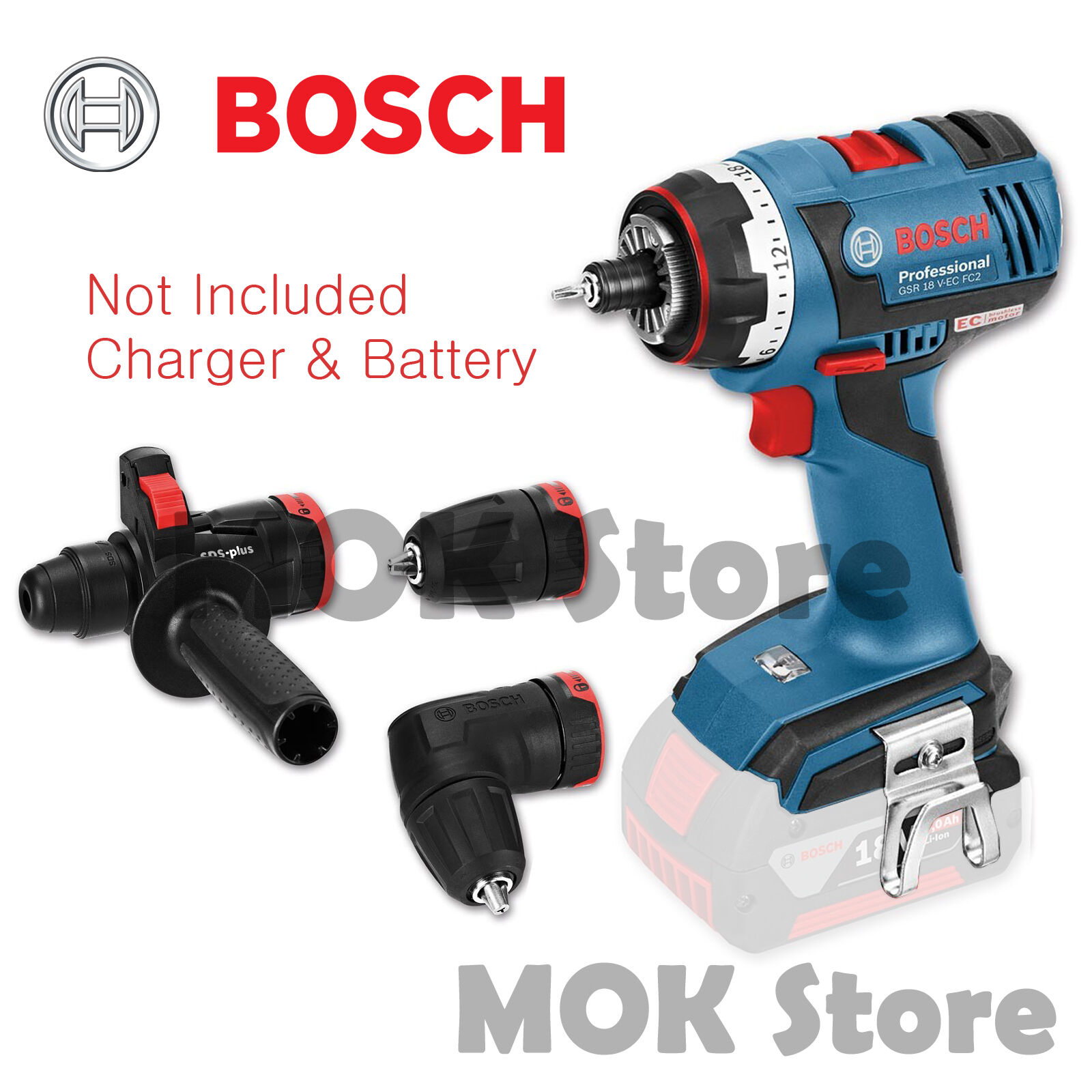 bosch gsr18v ec fc2 18v professional cordless drill body. Black Bedroom Furniture Sets. Home Design Ideas